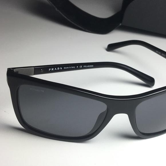 6f02eecb3988b hot mens prada sunglasses polarized 7a9ad cf632  discount code for prada  square trim black polarized sunglasses 8af74 7f63d